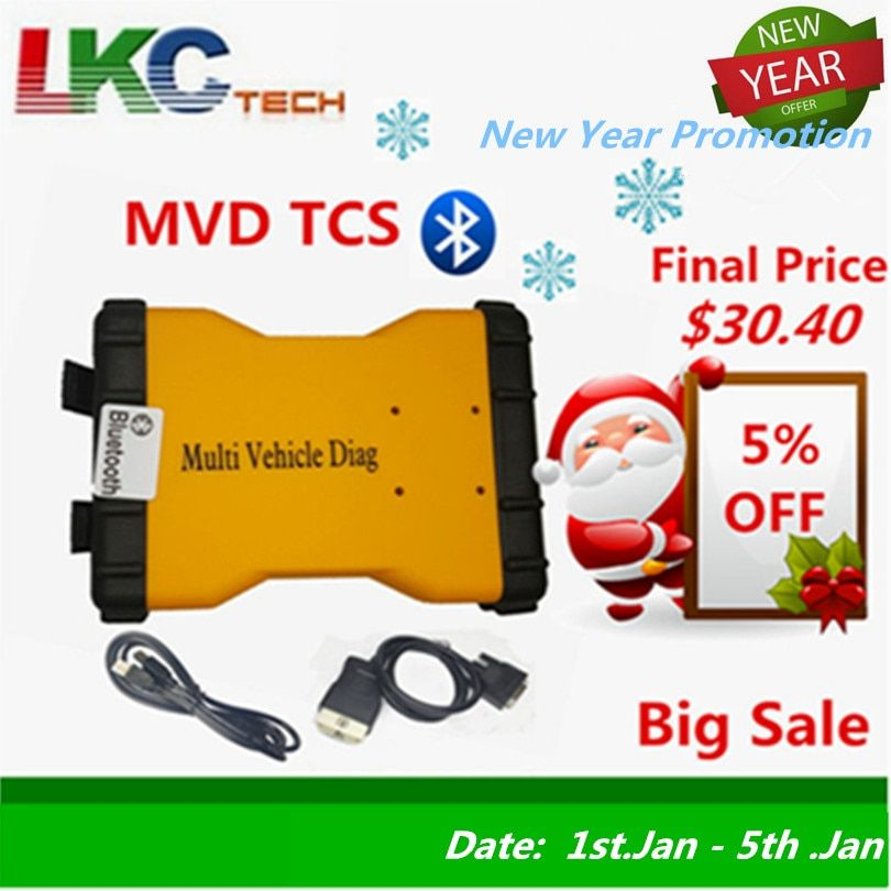 2018 MVD Support 2016 Year WOW 5.00.8 MVDiag With Bluetooth CAR Diagnostic Tool TCS CDP Multi Vehicle Diag Free Shipping