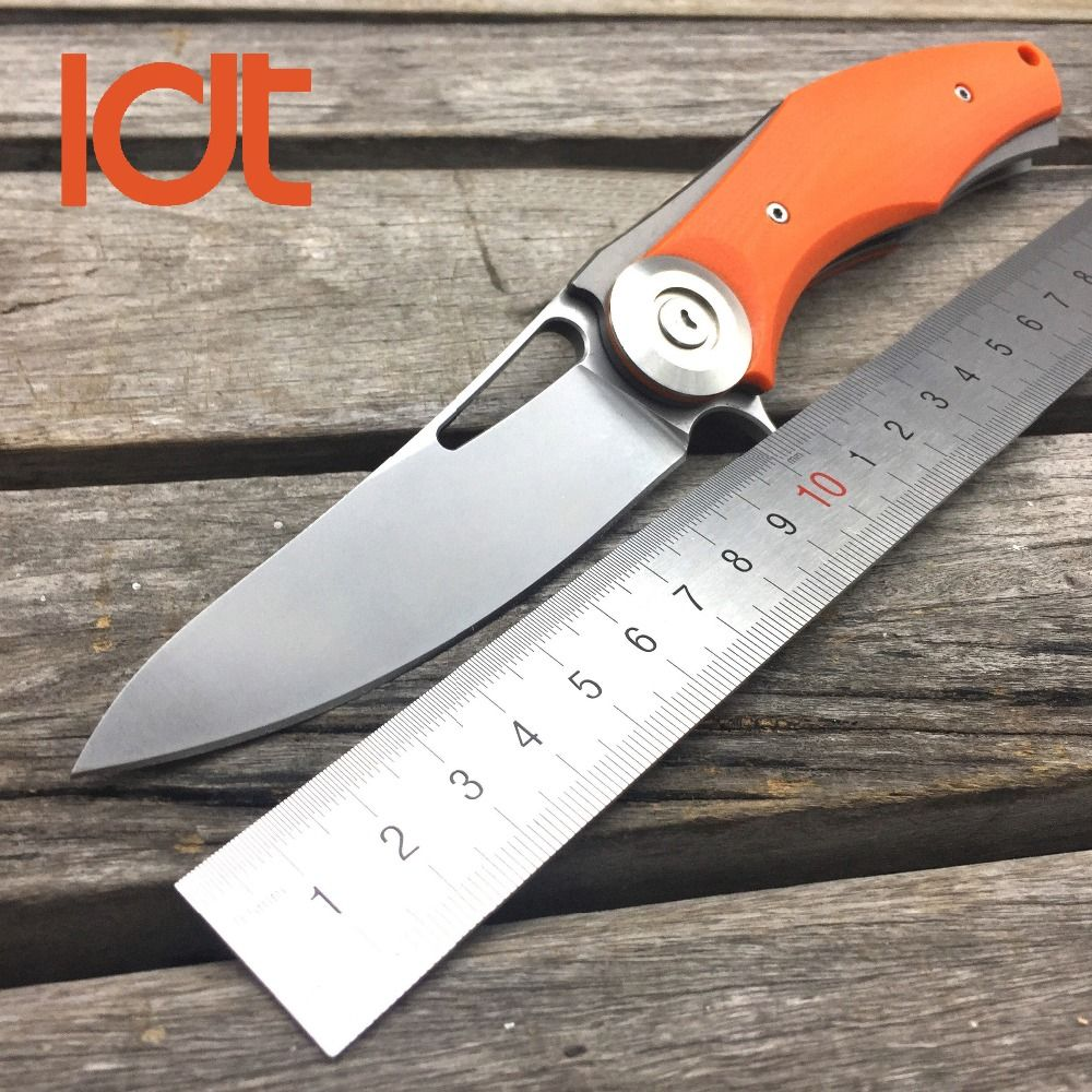 LDT Bear Dark Wild Boar Folding Knives D2 Blade Plating Titanium G10 Handle Tactical Camping Knife Survival Pocket Tools EDC OEM