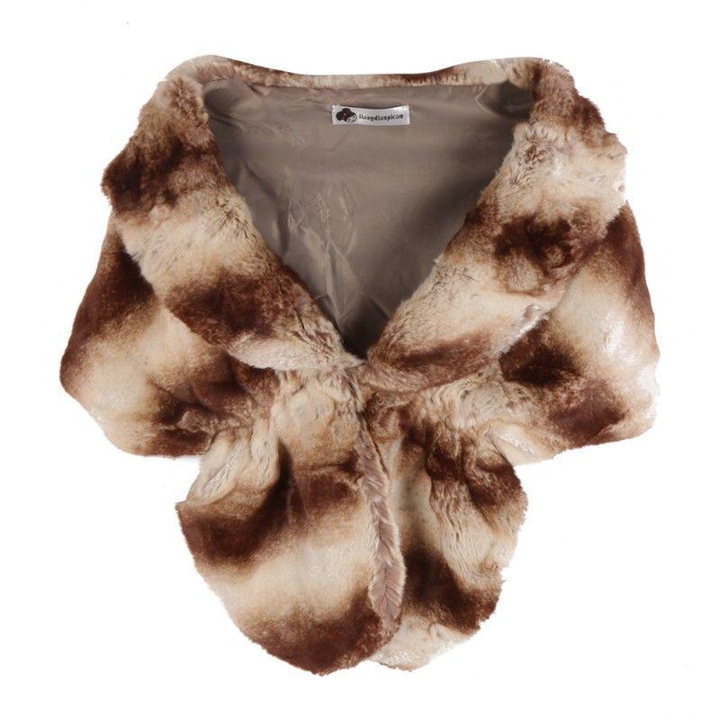 New Faux Rabbit Fur Coats Jackets Noble Bridal Wedding Faux Fur Long Shawl Stole Wrap Shrug women Scarf