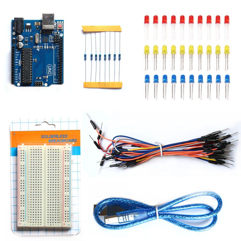 Бесплатная доставка UNO R3 развитию starter kit Базовый комплект для Arduino DIY