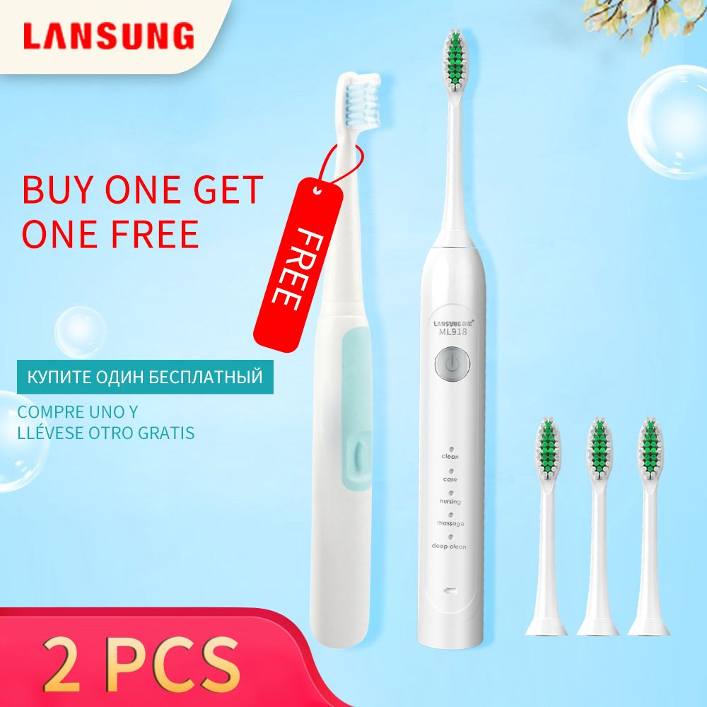 Buy One Get One Free Electric Toothbrush Ultrasonic Toothbrush Oral Hygiene Sonic Toothbrush Electric Tooth Brush Dental Care