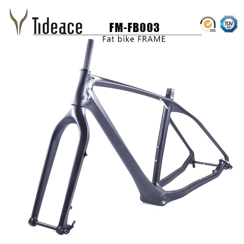 2018 free ship carbon fat bike frame with fork 26er BSA carbon snow bike frameset carbon fat bike frame+fork+thru axle shafter
