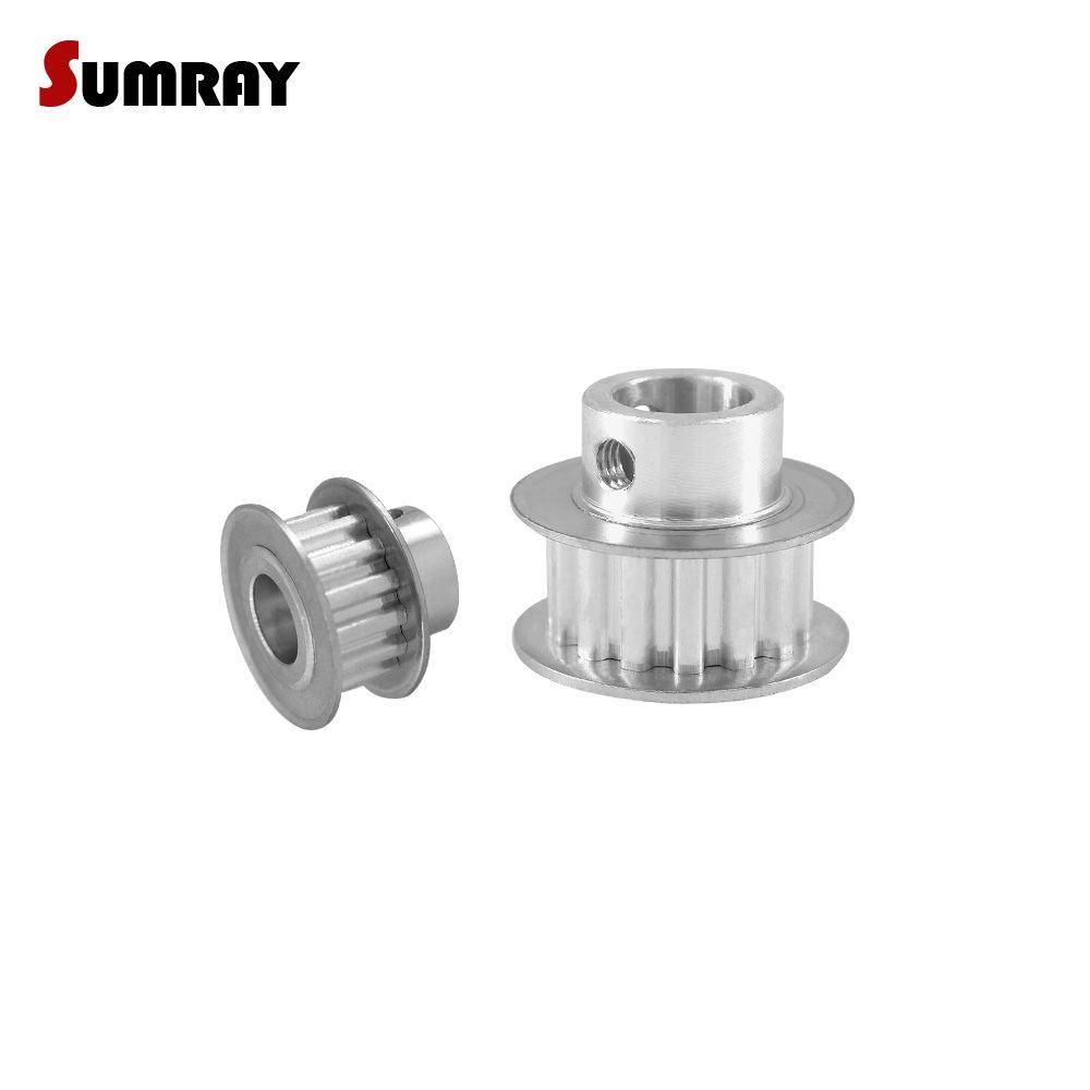 SUMRAY XL 12 t Timing Pulley 4/5/6/6,35/7/8mm Bohrung Lager pulley Rad 11mm Gürtel Breite Aluminium Motor Pulley 5,08mm Pitch 2 stücke