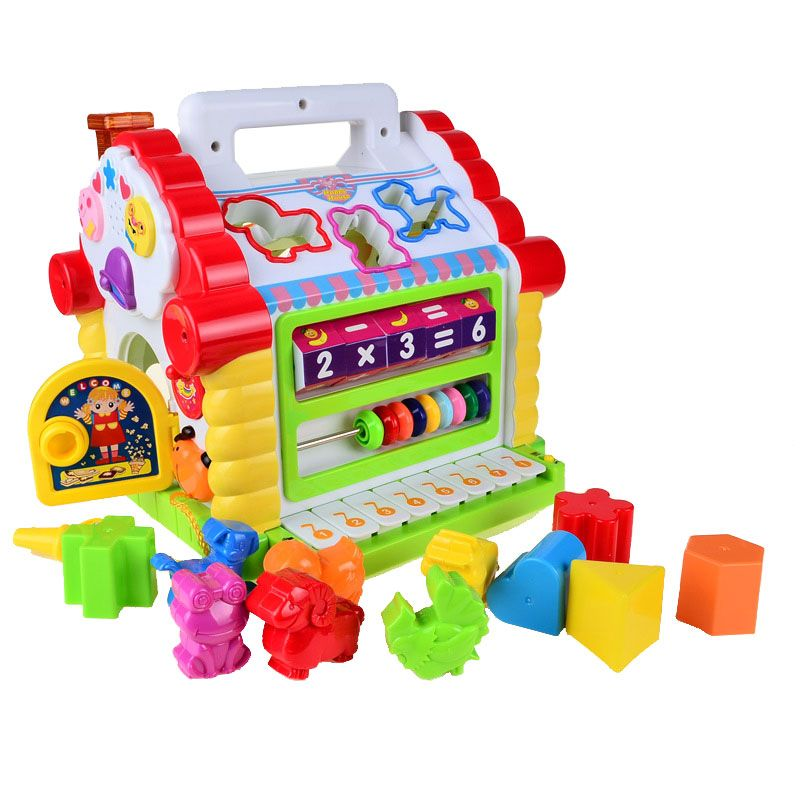 BOHS Multifunctional Musical Toys Colorful Baby Fun House Musical Electronic Geometric Blocks Sorting <font><b>Learning</b></font> Educational Toys