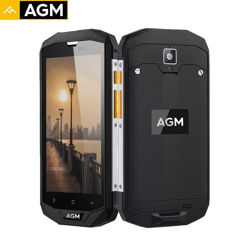 AGM A8 EU Smartphone 64G+4G IP68 Waterproof Mobile Phones Qualcommn MSM8916 Quad Core Gorilla Glass Android 7.0 5.0 Inch 4050mAh