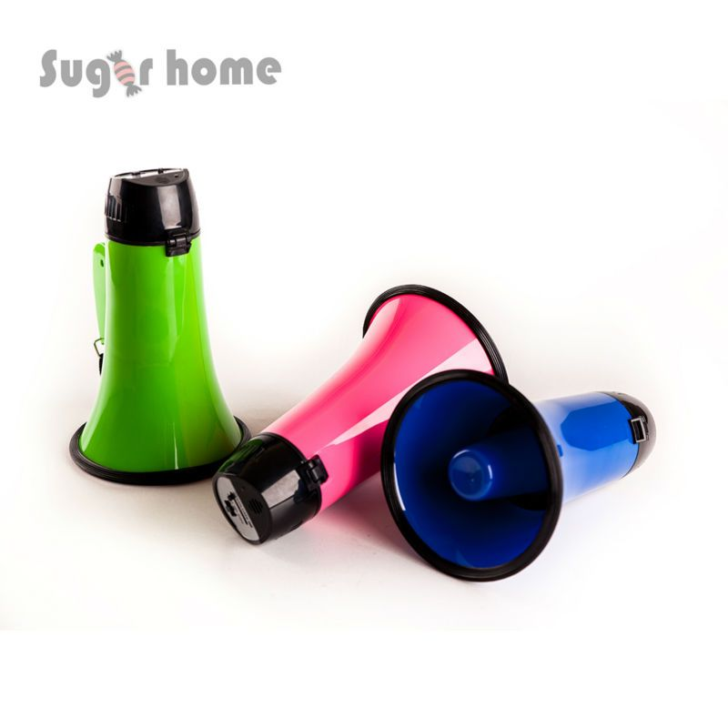 Portable Megaphone 20 Watt Power Megaphone Speaker Bullhorn Voice And Siren/Alarm Modes With Volume Control And Strap
