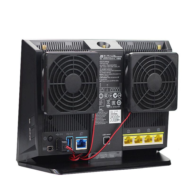 FOR ASUS RT-AC68U EX6200 router 5v mute fan cooling Netgear R7000 Wireless wifi EA4500 R6300 R6200 7CM USB Cooler FAN 70mm