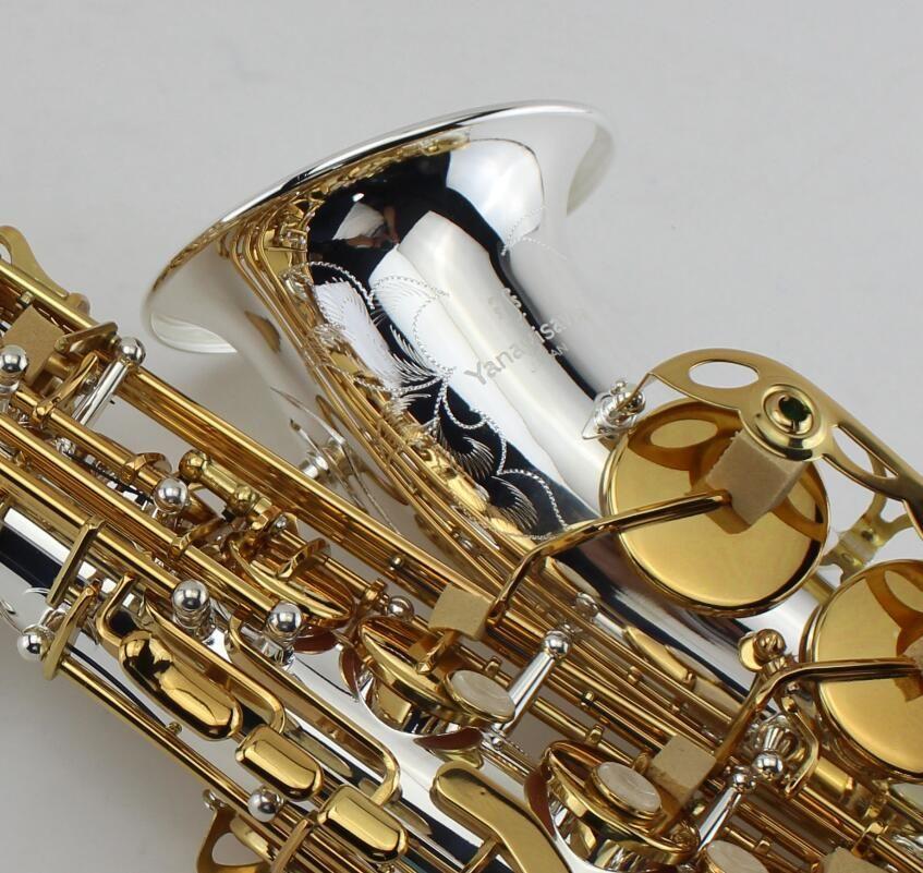 YANAGISAWA A-992 Eb Alto Saxophon Silber Überzogene Körper Und Gold Überzogene Schlüssel Perfekte Aussehen Professionelle Musik Instrumente