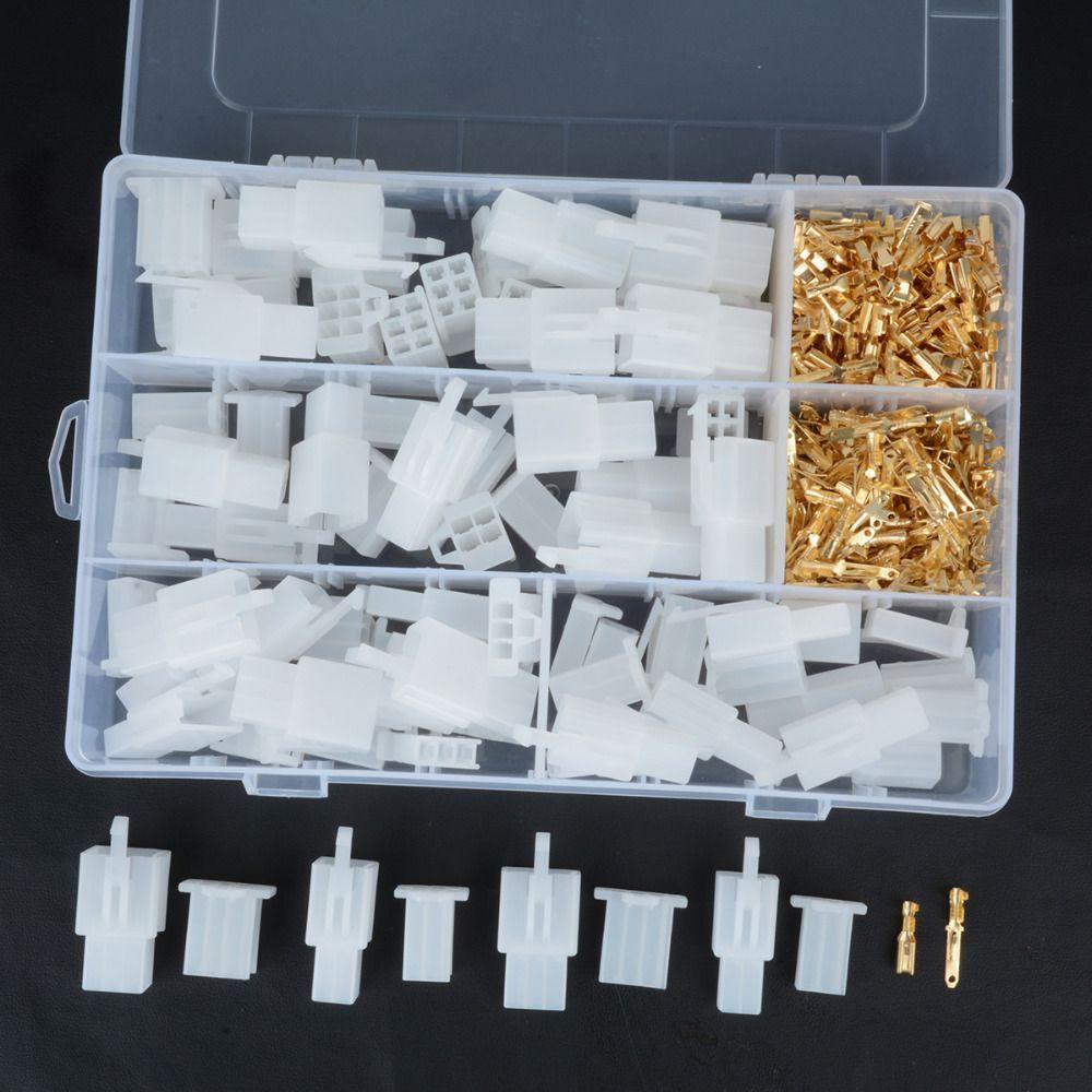 40 Set pratique Auto électrique 2 3 4 6 broches 2.8mm fil Terminal connecteur avec crochet fixe mâle femelle bornes logement Mayitr