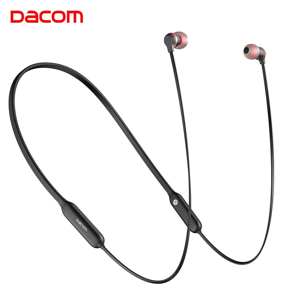 Dacom L06 Wireless Headphones Bluetooth Earphone Sports Stereo Bass in Ear Monitor Neckband Earphones Headset with Mic for Phone