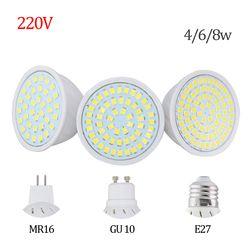 Prix usine LED Spotlight GU10 E27 MR16 Led Lampe 8 W 4 W 6 W AC 220 V 3528SMD 36 Led 54 Led 72 Led Blanc/Blanc Chaud A MENÉ L'éclairage