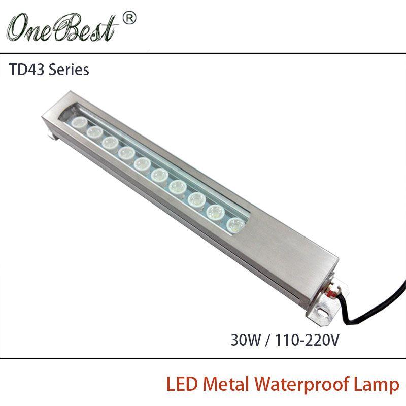HNTD TD43-30W 110V-220V Led Metal Panel Light CNC Machine Tool Waterproof Explosion-proof Led Spotlight work light Free shipping