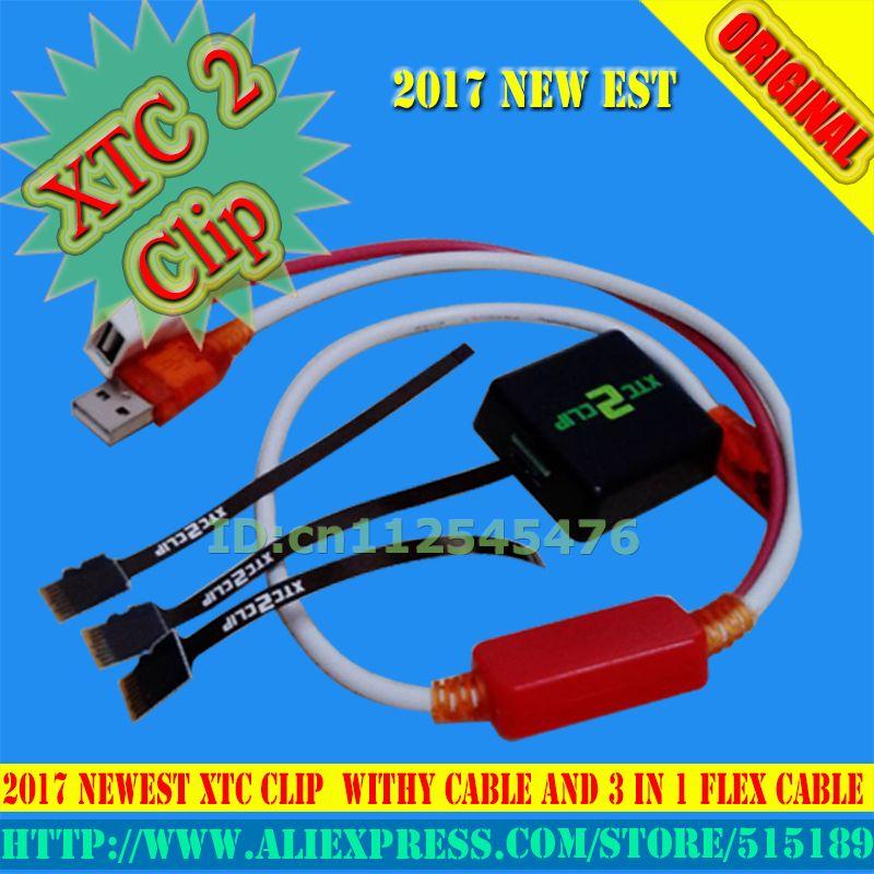 Gsmjustoncct 2017 Version xtc 2 clip xtc clip Boîte avec 3 Dans 1 Flex Câble avec Câble De Type Y pour HTC