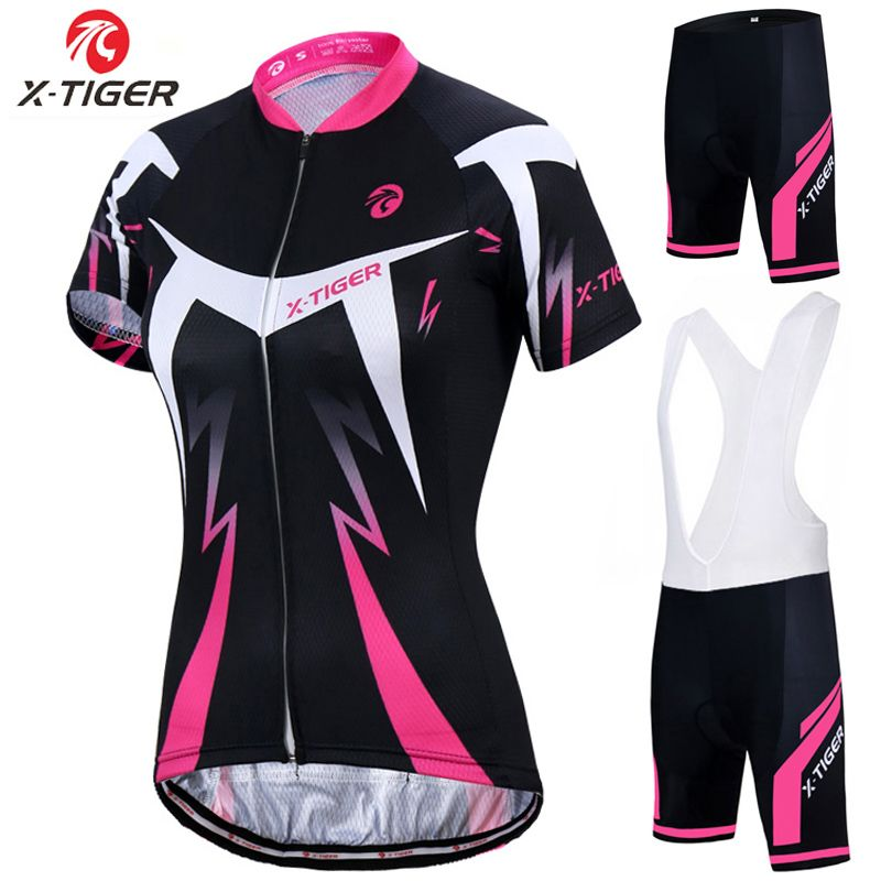 X-Tigre D'été Femmes VTT Vélo Vélo Vêtements Respirant Mountian Vélo Vêtements Ropa Ciclismo Rapide Cyclisme à Séchage rapide ensembles