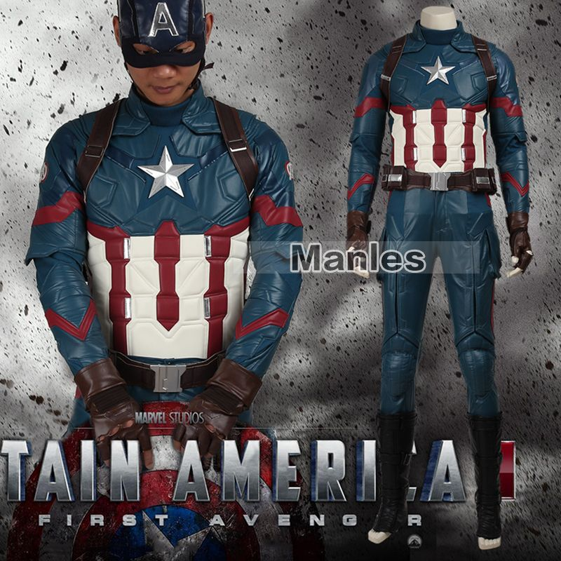 Movie Coser Captain America 3 Civil War Costume Steve Rogers Cosplay Costume Superhero Suit Halloween Outfit Adult Men Leather
