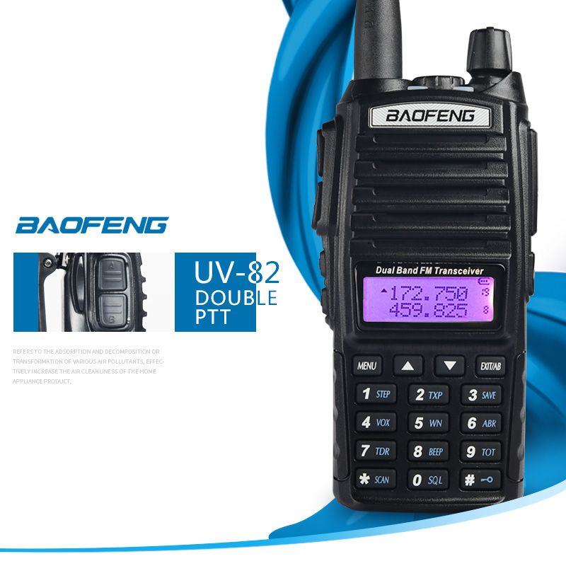 Talkie walkie BaoFeng UV-82 Dual-Band 136-174/400-520 MHz FM Ham Two way Radio, émetteur-récepteur, talkie walkie