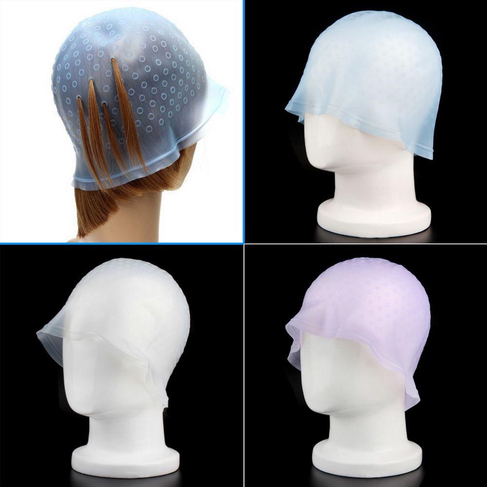 HOt 1 Stücke Profi Reusable Hair Colouring Hervorhebung Dye Cap Mit Haken Zuckerguss Kippen Farbe Styling Werkzeuge Qualität