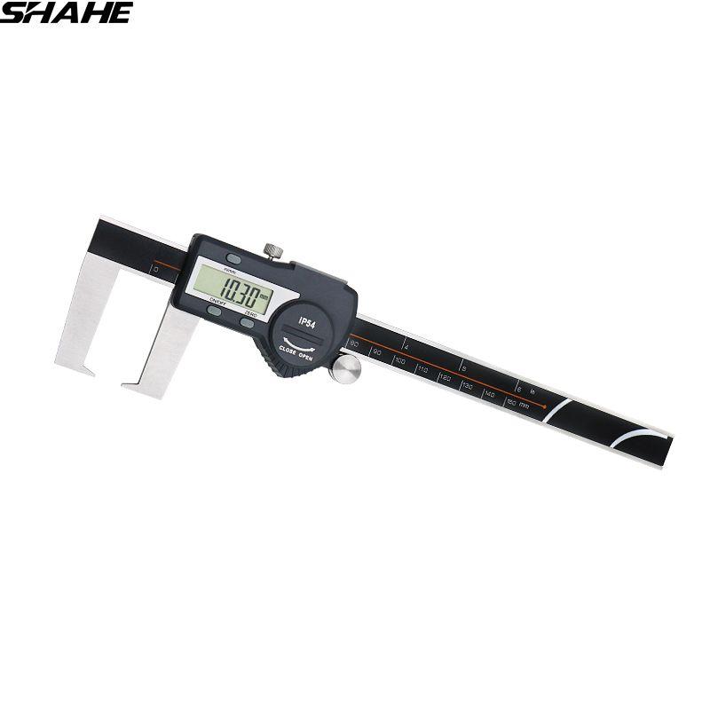 0-150 mm outside groove digital caliper with flat point digital caliper stainless steel digital caliper 150mm
