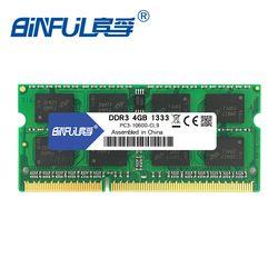 Binful DDR3 2 GB/4 GB 1066 MHz 1333 MHz 1600 MHz PC3-8500 PC3-10600 PC3-12800 SODIMM Mémoire Ram memoria ram Pour Ordinateur Portable Portable