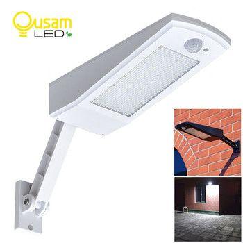 Nouvelle Conception Solaire Lumière 48 LED 900LM 4500 mAh Auto PIR Motion Sensor Mur de Jardin Solaire Lampe Pour L'extérieur Étanche éclairage