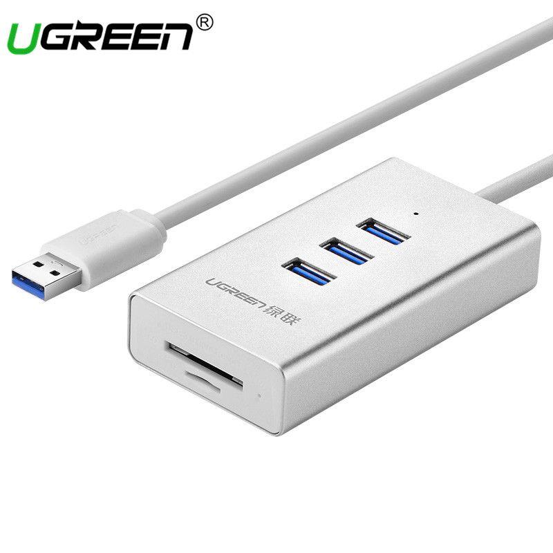 Ugreen USB 3.0 Card Reader with 3 Port USB HUB Micro SD TF Card Reader USB Splitter for Computer All in 1 Card Reader USB Hubs