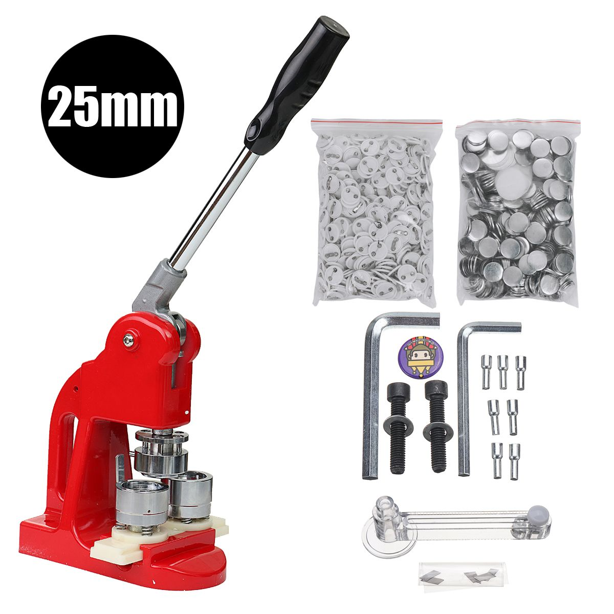 Button Maker Main button badge making machine including 1-1/2