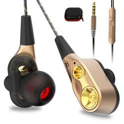 AIPAL V3 Filaire écouteurs Haute basse double lecteur stéréo In-Ear Écouteurs Avec Microphone Ordinateur écouteurs Pour Téléphone Sport