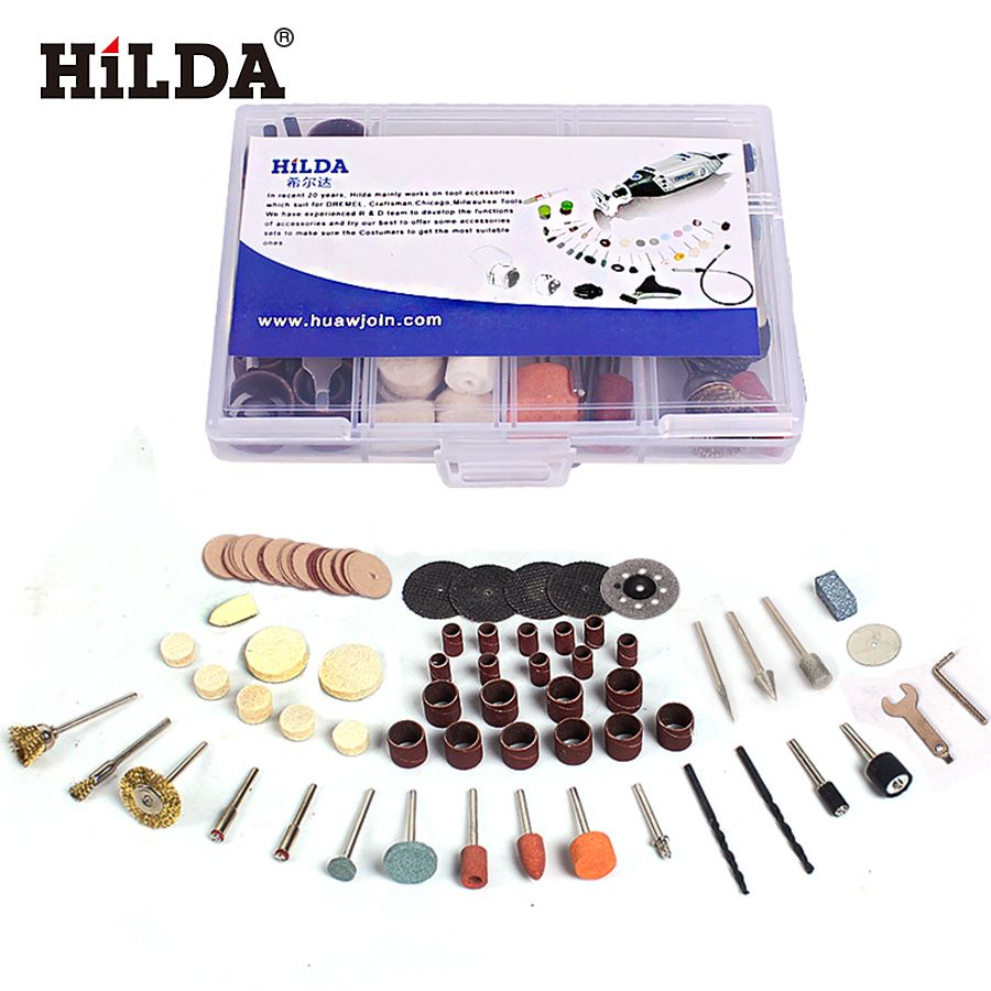 HILDA 92Pcs Wood Metal Engraving Electric Rotary Tool Accessory for Dremel Bit Set 1/8