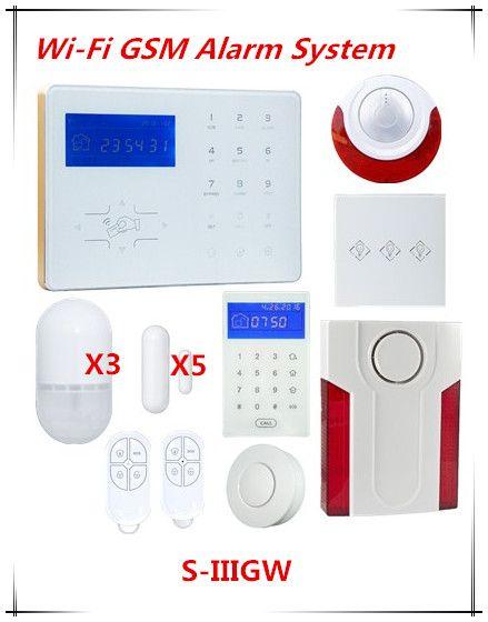 Big discount Voice Prompt Wifi Network Smart Alarm GSM Alarm System Home Automation Wifi Burglar Alarm System