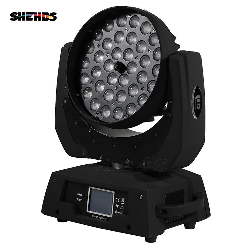 Fast Shipping LED Wash Zoom Moving Head Light 36x18W RGBWA+UV 6IN1 Touch Screen ,DMX 16 Channels Good for DJ