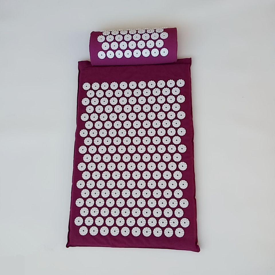 Masseur (appro62*38 cm) coussin tapis de Massage acupression soulager la douleur au dos du corps pic tapis d'acupuncture Massage Yoga tapis/oreiller