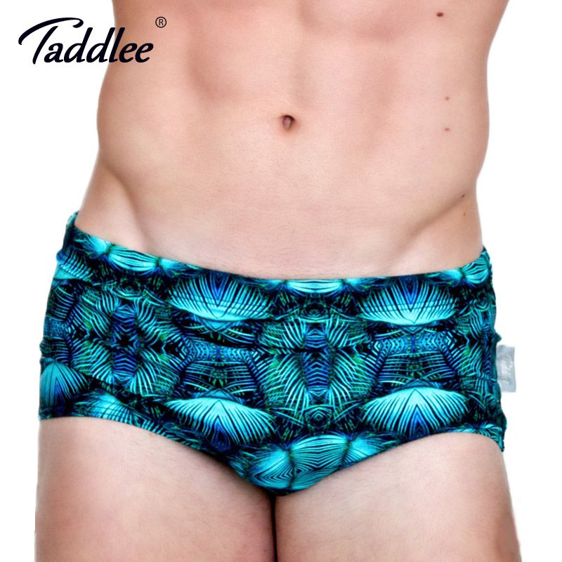 Taddlee Brand Sexy Men Swimsuits Swimwear Swim Boxer Trunks Shorts Surf Board 3D Print Men Swimming Briefs Bikini Gay Classi Cut