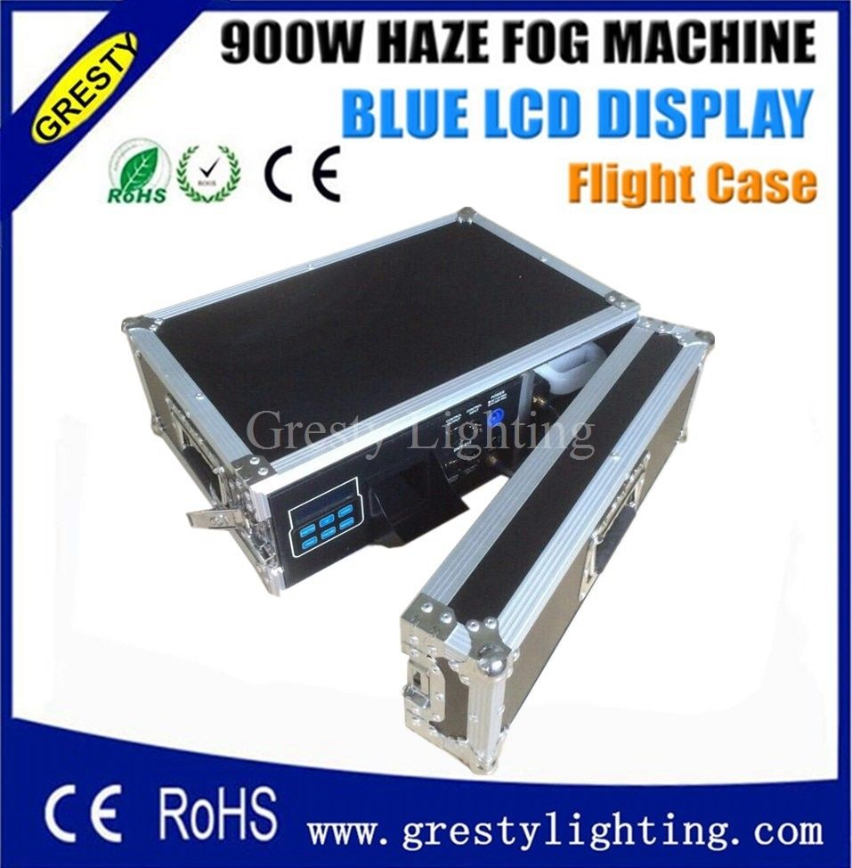 Free shipping Hot sale 900w hazer machine with flight case smoke machine for stage light effect