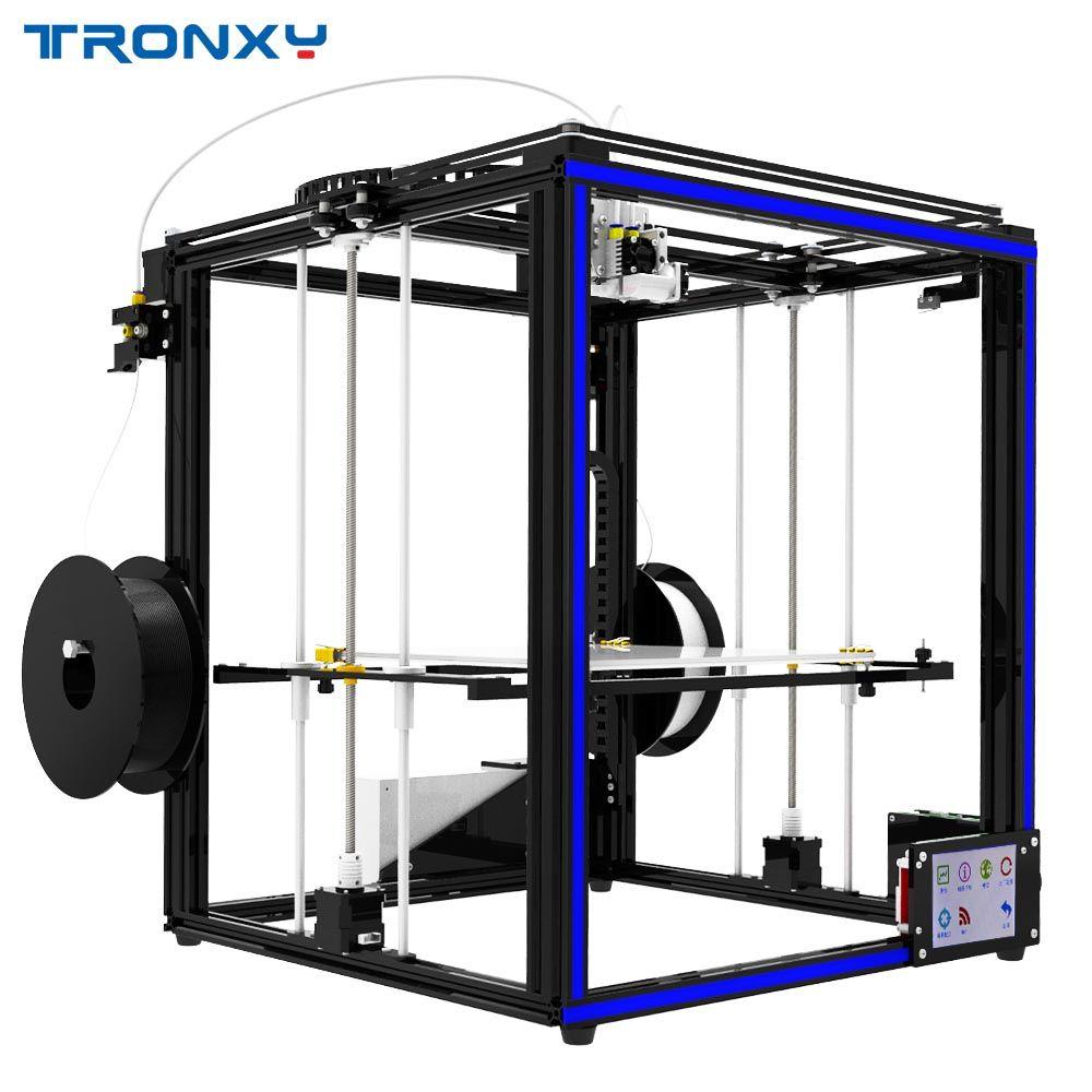 2019 TRONXY X5ST-500-2E DIY 3D Drucker Größere Größe Wärme bett Touchscreen PLA 1,75mm Filament 500*500 * 600mm Doppel Farbe Druck