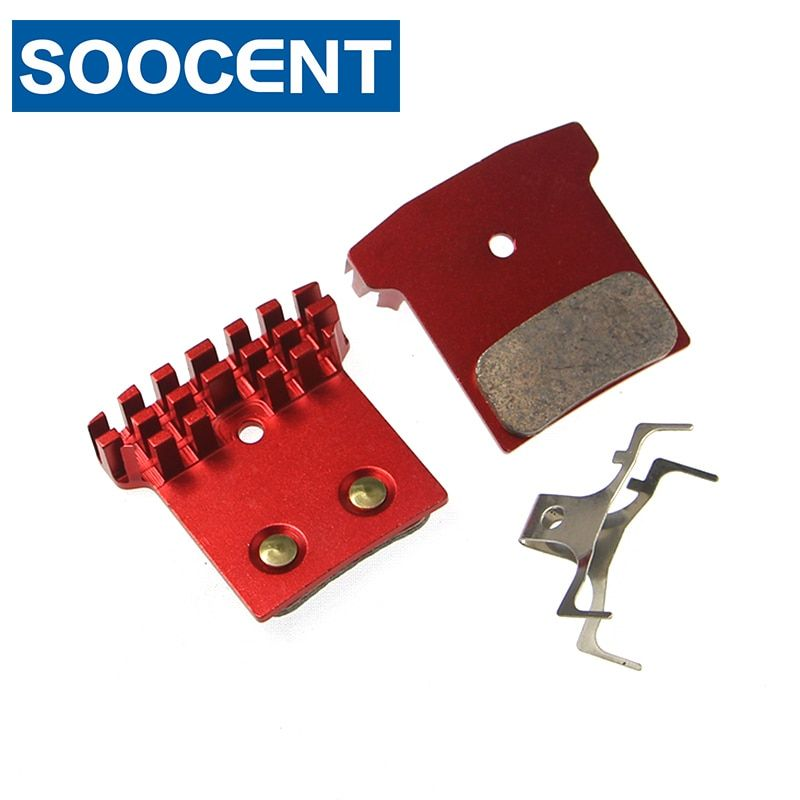 Full Metal Cooling Fin Bicycle Disc Brake Pads for Shimano BR M985 M988 XT M8000 M785 SLX M675 M666 S700 Alfine R785 FASK-Force