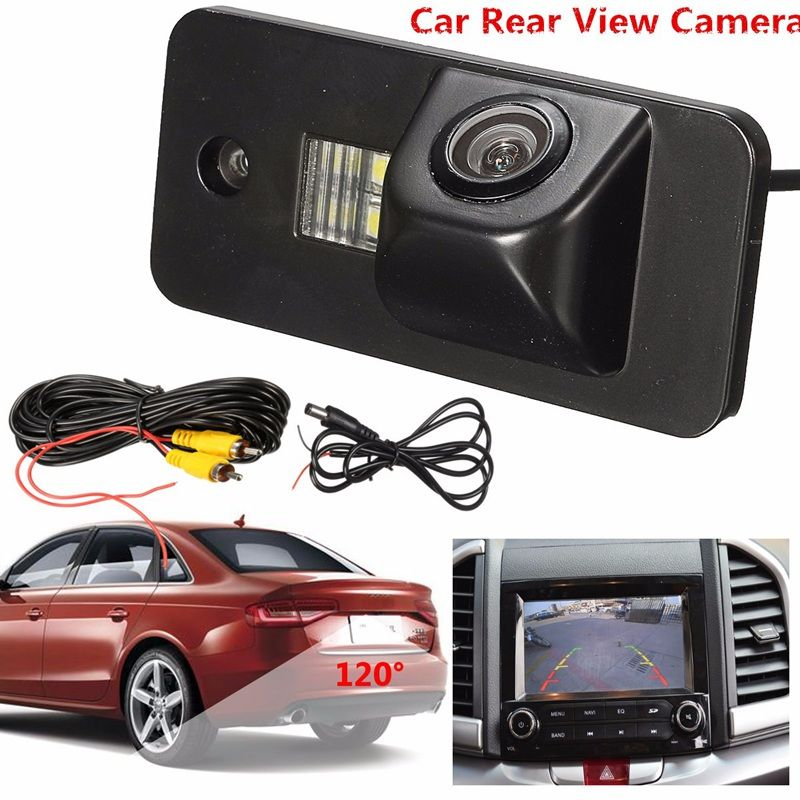 Rearview Camera 520TV lines 120 Waterproof Car Auto Rear View Camera Reverse Backup License Plate Camera For Audi A3 A4 A5 RS4