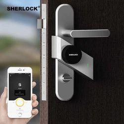 Шерлок S2 умный дверной замок дома замок без ключа отпечатков пальцев + пароль работы электронный замок Беспроводной приложение телефон ...
