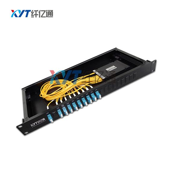 High Quality 8 Channel 1U Rack Mount Single Fiber CWDM Mux/Demux With LC Connector Coarse Wavelength Division Multiplexer