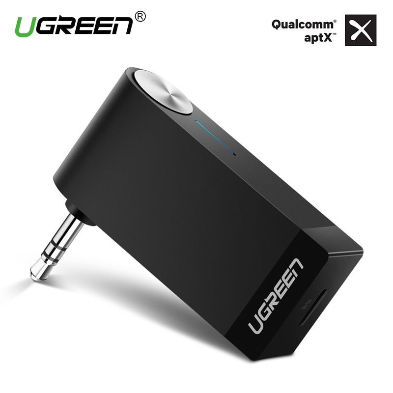 Ugreen Bluetooth Receiver 3.5mm Jack Bluetooth Audio Music Wireless Receiver Adapter Car Aux <font><b>Cable</b></font> Free for Speaker Headphone