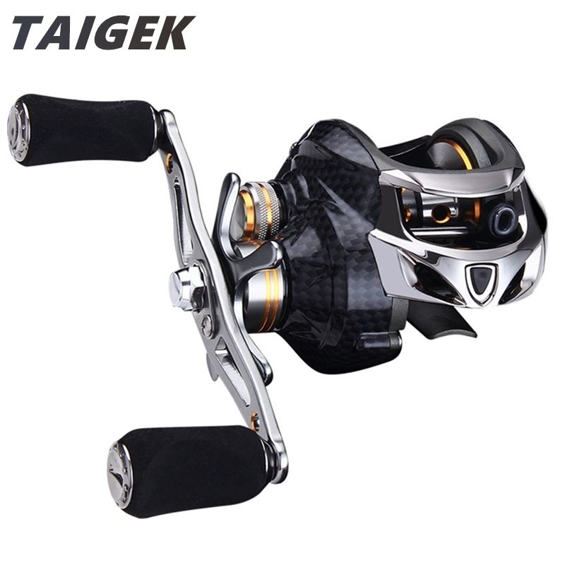 Taigek 19BB Max Drag 10kg Saltwater Fishing Baitcasting Reel 7.0:1 Left Right Hand <font><b>Surf</b></font> Bait Casting Baitcaster Fishing Reel