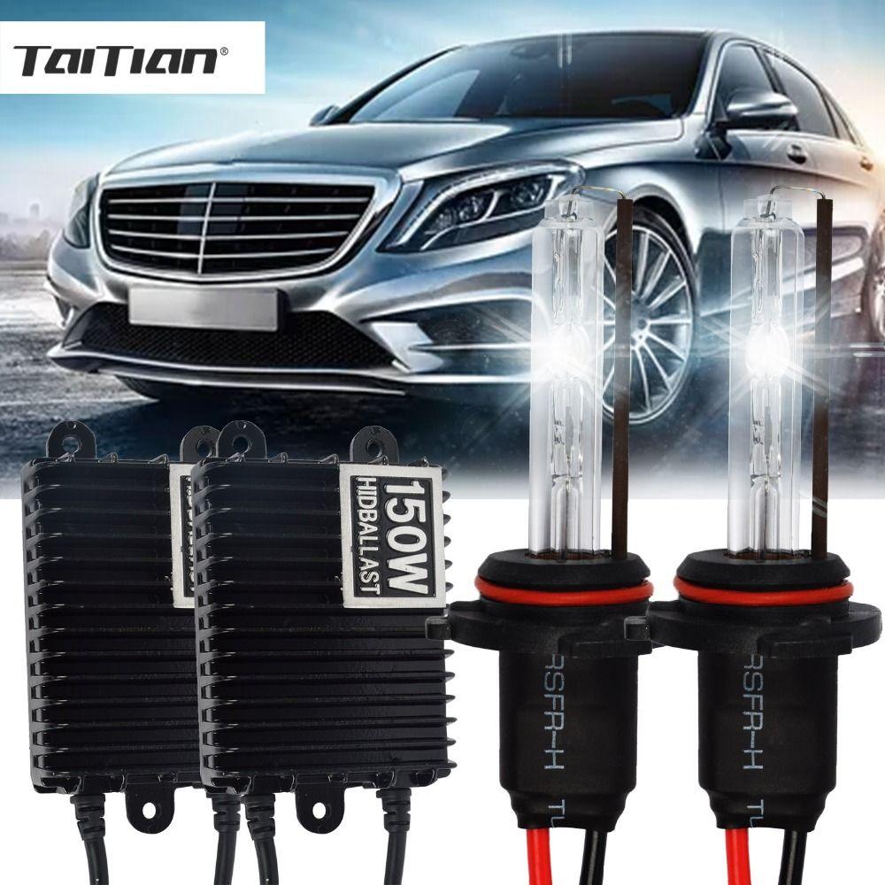 Taitian 2Pcs 150W Hid Xenon ballast+55W Xenon Light 12V 4300K h7 Car lamp super white h1 H3 fog light 9005 9006 h11 Xenon kit