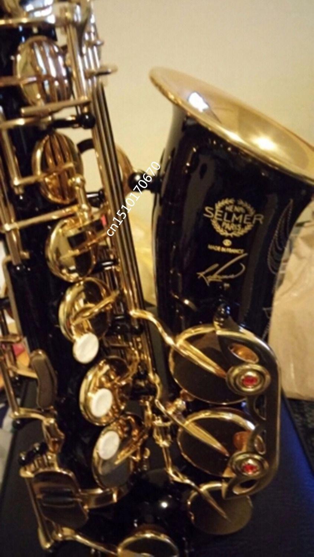 France Selmer 54 Black Nickel Gold Saxophone Alto Eb Sax Mouthpiece High Quality Sax 54 Instruments Professional Saxofone