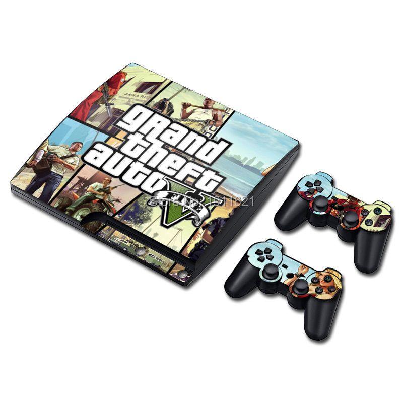 OSTSTICKER Vente Chaude Pour PS3 Mince Peau Autocollant pour Sony PlayStation 3 Console et 2 Contrôleur Peaux