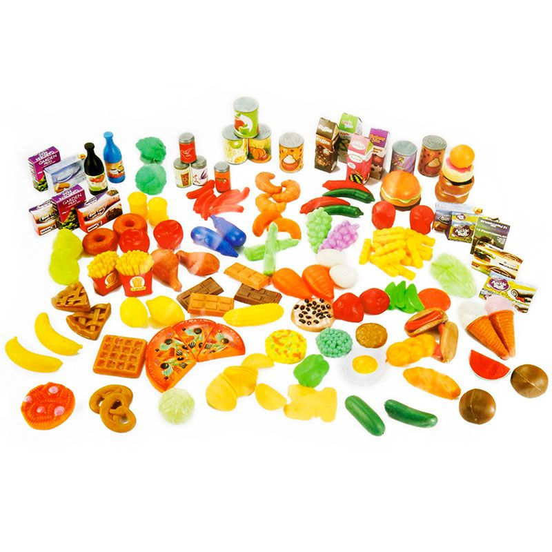 Simulation Fruits Vegetables Food Seasoning Plastic Toy Pretend Play Toys Educational Kids Kitchen Fun