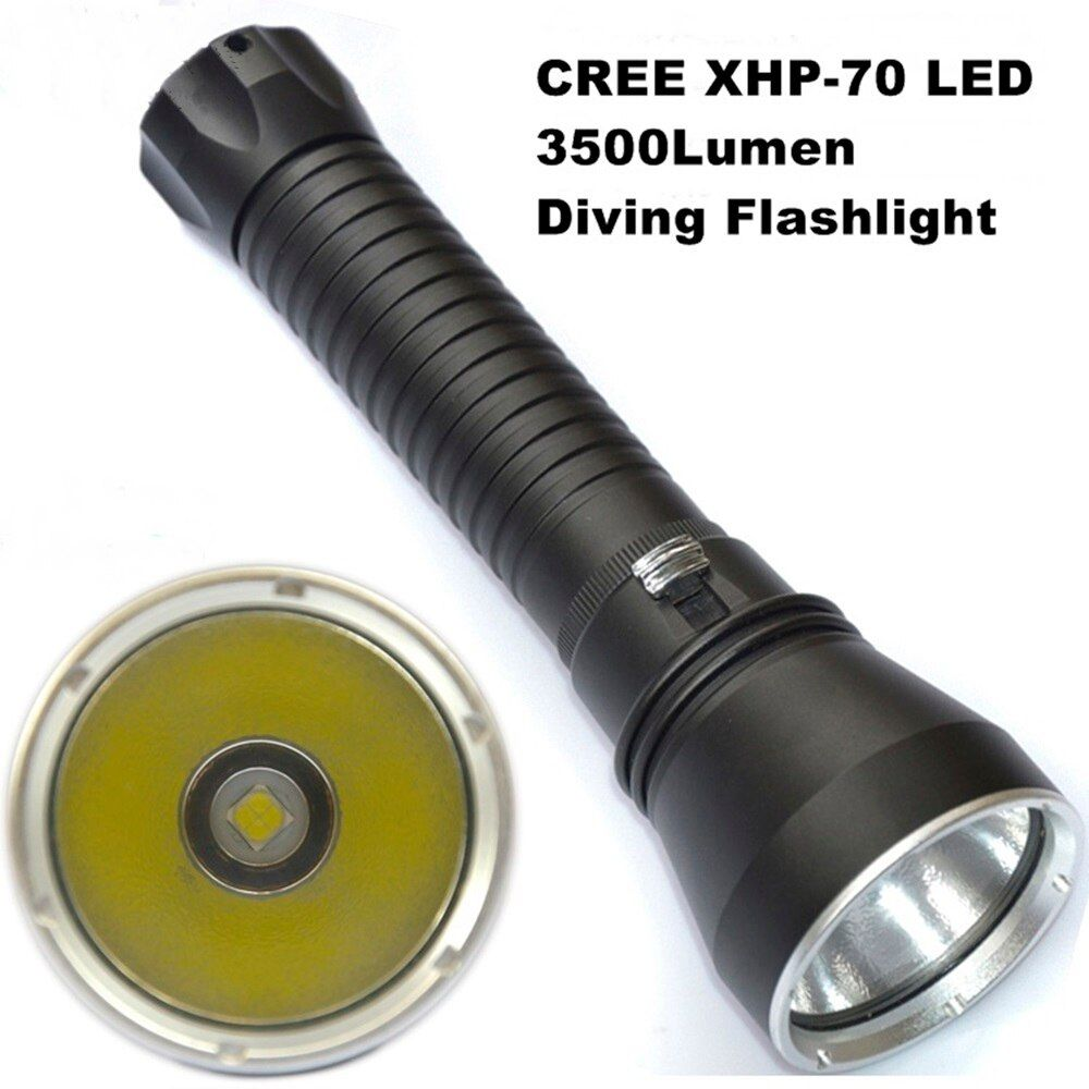 Super Brightness DV15 CREE XHP70 Flashlight LED 3500LM Diving Flashlight Tactical 26650 Torch Underwater 100M Waterproof