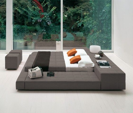 floor tatami contemporary modern leather soft bed King size bedroom furniture Made in China