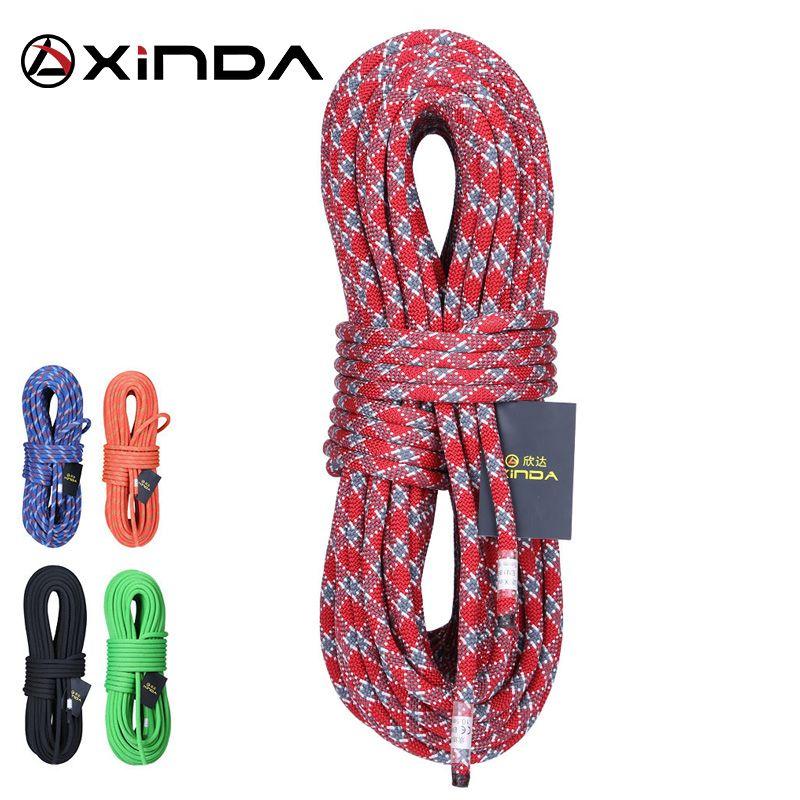 XINDA 10 M Camping escalade corde 10mm statique corde diamètre 5200lbs haute résistance longe sécurité escalade équipement survie