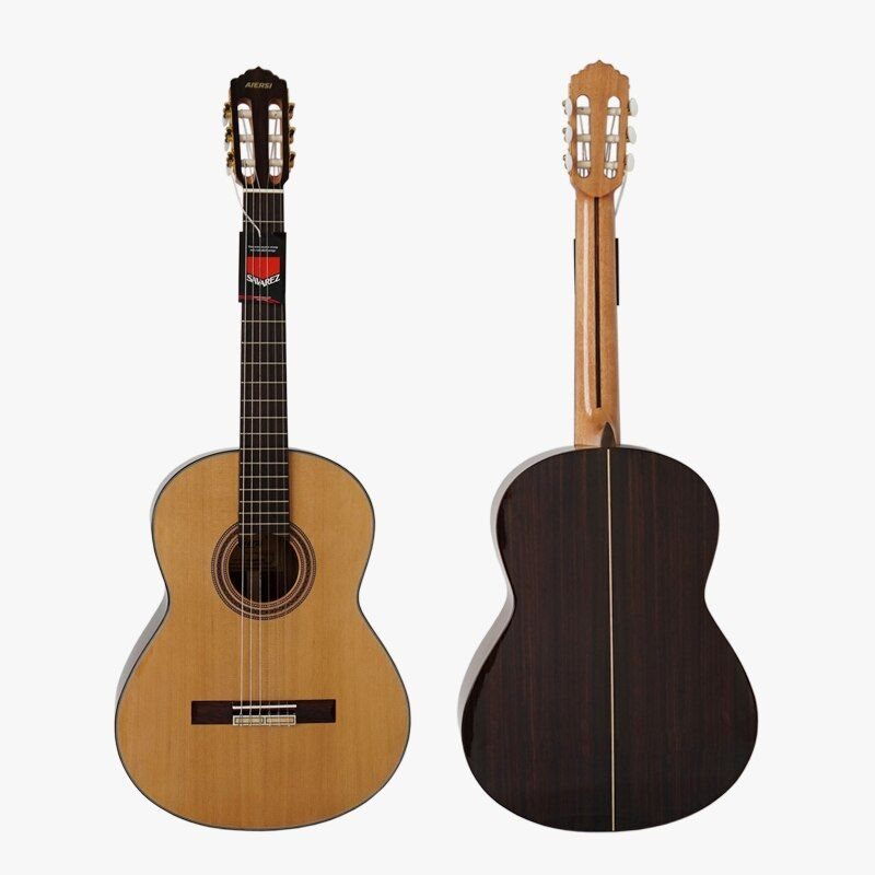 With hard guitar Case Solid Canadian Cedar Top Spanish Skill handmade Classical Guitar nylon string SC02CRB