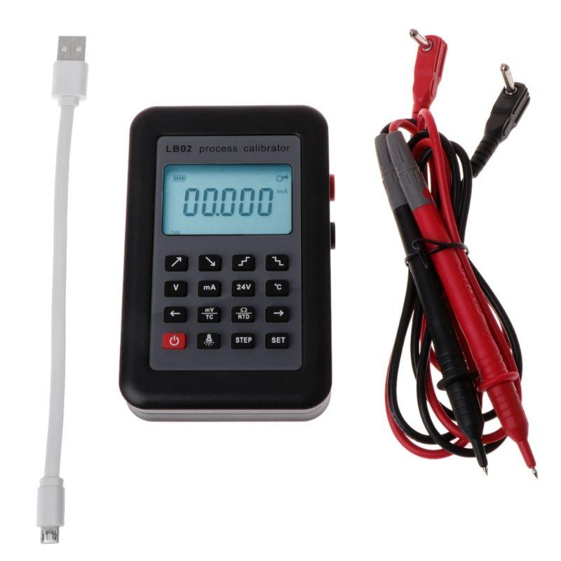 LB02 Resistance Current Voltmeter Signal Generator Source Process Calibrator 4-20mA/0-10V/mV LCD Display Update