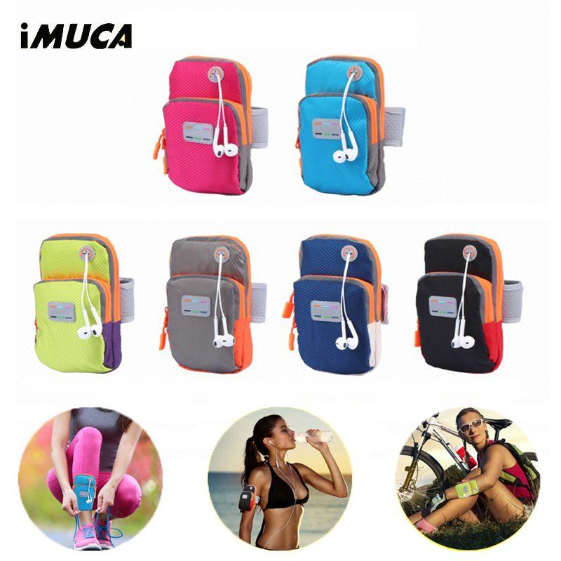 IMUCA Универсальный Спорт повязку чехол для iPhone 6 6S Водонепроницаемый Спорт Бег телефон сумка чехол для Apple iPhone 7 плюс Чехол